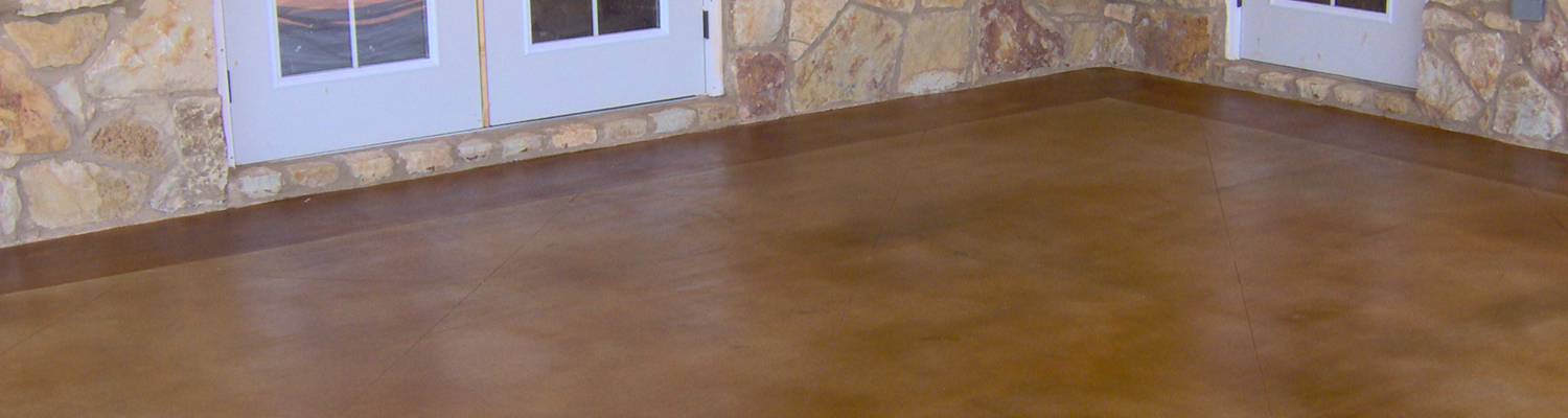 Brown Stained Concrete Floors